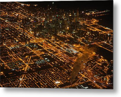 Metal Print featuring the photograph Downtown Chicago At Night by Nathan Rupert