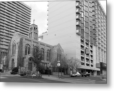 Downtown Church  Metal Print
