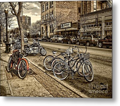 Downtown Coeur D'alene Idaho Metal Print by Scarlett Images Photography