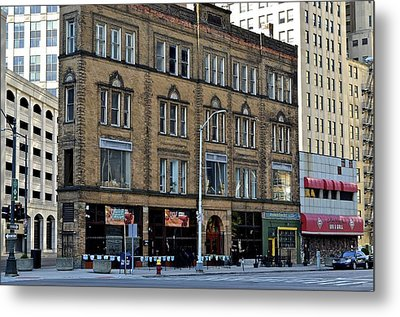 Downtown Detroit Metal Print by Frozen in Time Fine Art Photography