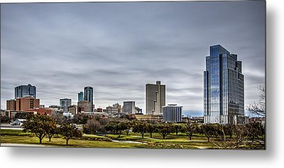 Downtown Fort Worth Trinity Trail Metal Print by Jonathan Davison