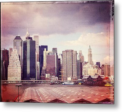Downtown From Brooklyn Metal Print by Frank Winters