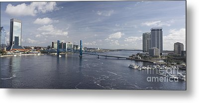 Downtown Jax St Johns Pano Metal Print