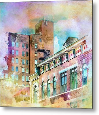 Downtown Living In Color Metal Print