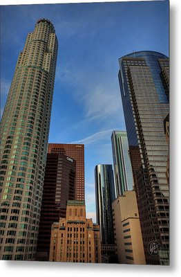 Downtown Los Angeles 001 Metal Print by Lance Vaughn