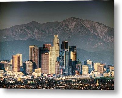 Downtown Los Angeles Metal Print by Natasha Bishop