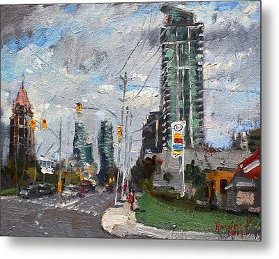 Downtown Mississauga On Metal Print by Ylli Haruni