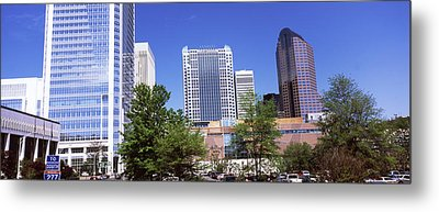 Downtown Modern Buildings In A City Metal Print by Panoramic Images