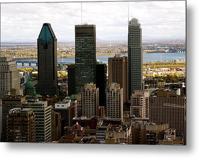 Downtown Montreal In Fall Metal Print by Jocelyne Choquette