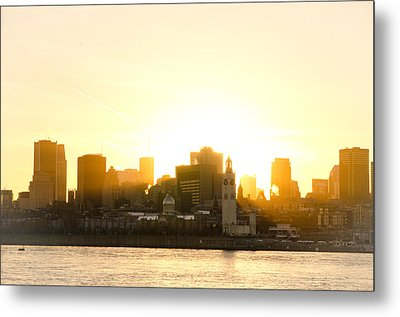 Downtown Montreal In Fall Season Dusk Metal Print by Eric Soucy