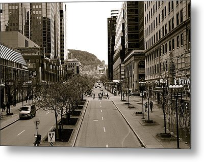 Downtown Montreal Metal Print by Jocelyne Choquette