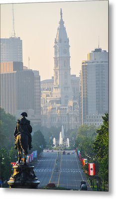Downtown Philadelphia - Benjamin Franklin Parkway Metal Print by Bill Cannon