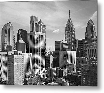 Downtown Philadelphia Metal Print by Rona Black