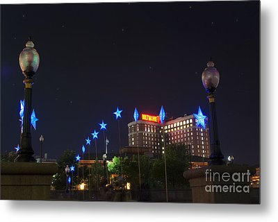 Downtown Providence At Night Metal Print