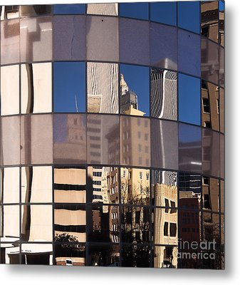 Downtown Reflections Metal Print by Lawrence Burry