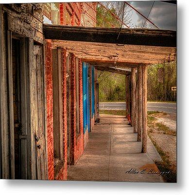 Downtown Richards Texas Metal Print by Allen Biedrzycki