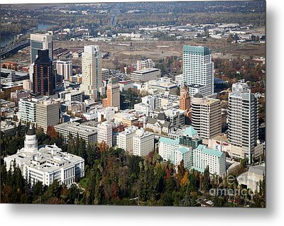Downtown Sacramento And Capitol Park Metal Print by Bill Cobb