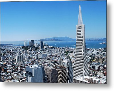 Downtown San Francisco Metal Print by William Wyckoff