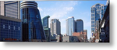 Downtown Skylines Of Nashville Metal Print by Panoramic Images
