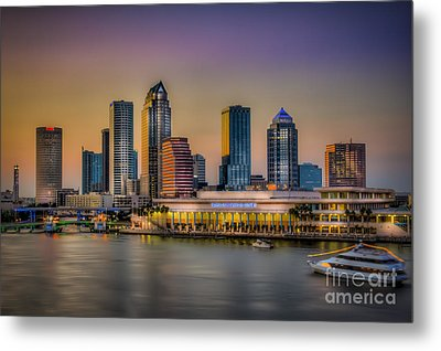 Downtown Tampa Metal Print by Marvin Spates