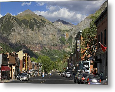 Downtown Telluride Colorado Metal Print by Mike McGlothlen