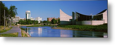 Downtown Wichita Viewed From The Bank Metal Print by Panoramic Images