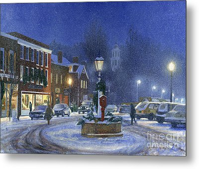 Downtown Woodstock Metal Print by Candace Lovely