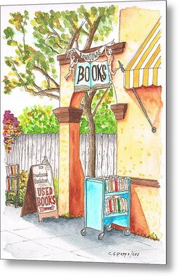 Downtowne Used Books In Riverside, California Metal Print