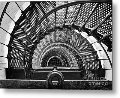 Downward Spiral Bw Metal Print