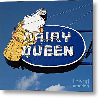 Dq Cone Sign Metal Print by Ethna Gillespie
