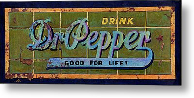 Dr Pepper Metal Print