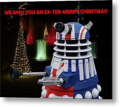 Dr Who - Dalek Christmas Metal Print