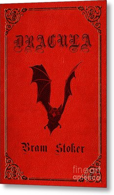 Dracula Book Cover Poster Art 1 Metal Print