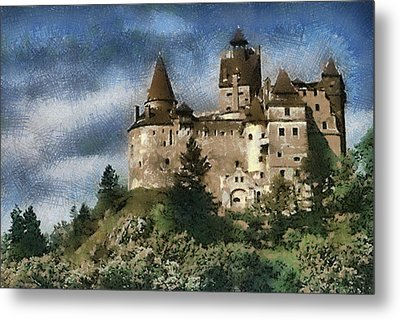 Dracula Castle Romania Metal Print by Georgi Dimitrov
