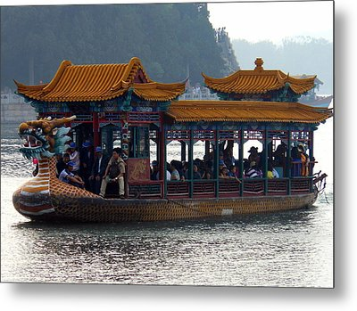 Metal Print featuring the photograph Dragon Boat by Kay Gilley