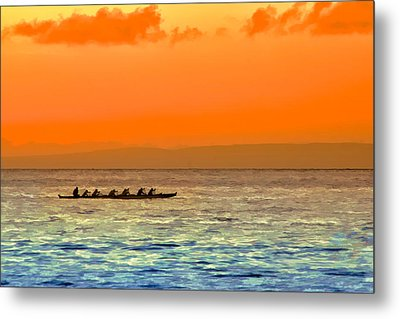 Dragon Boat On The Pacific Metal Print
