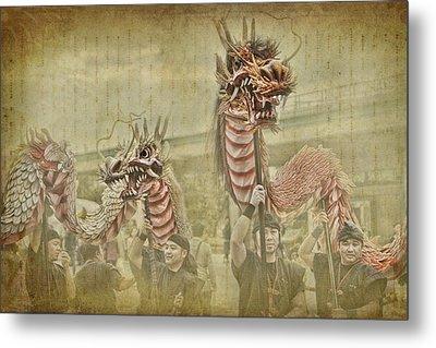 Dragon Festival Metal Print by Karen Walzer
