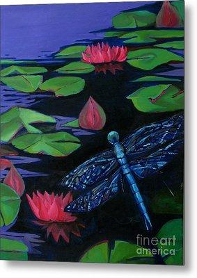 Dragon Fly - Botanical Metal Print by Grace Liberator