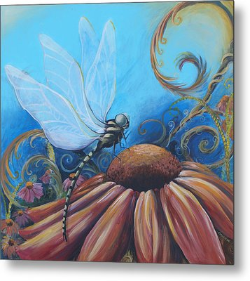 Dragon Fly Metal Print by Coreen Wasilkoff