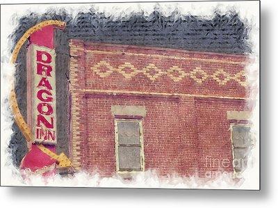 Dragon Inn Restaurant Sign Metal Print by Liane Wright