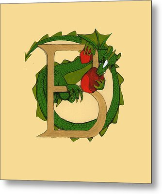 Dragon Letter B Metal Print