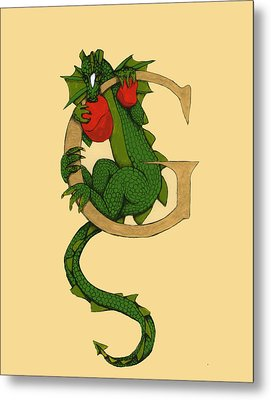 Dragon Letter G Metal Print
