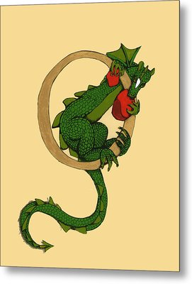 Dragon Letter O Metal Print