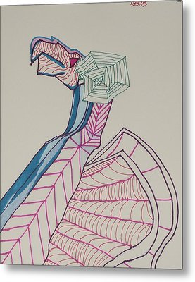 Dragon Lines Metal Print by Carolina Campbell