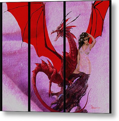 Dragon Power-featured In Comfortable Art Group Metal Print by EricaMaxine  Price