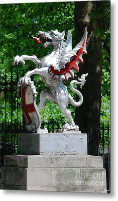 Dragon With St George Shield Metal Print
