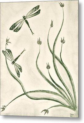 Dragonflies Metal Print by Sean Mitchell