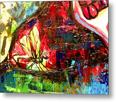 Dragonfly Abstract 2 Metal Print