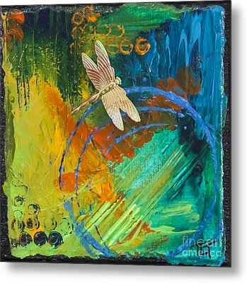 Dragonfly Abstract Metal Print