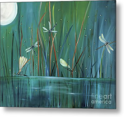 Dragonfly Diner Metal Print by Carol Sweetwood